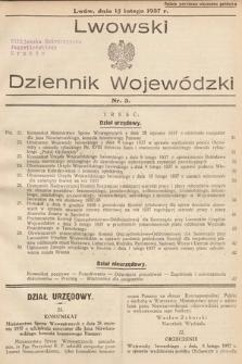 Lwowski Dziennik Wojewódzki. 1937, nr3