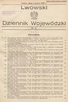 Lwowski Dziennik Wojewódzki. 1937, nr4