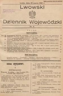 Lwowski Dziennik Wojewódzki. 1937, nr5
