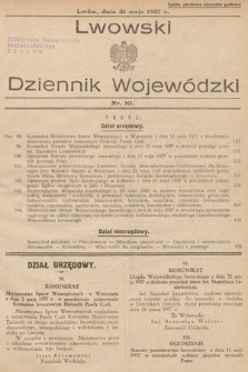 Lwowski Dziennik Wojewódzki. 1937, nr10