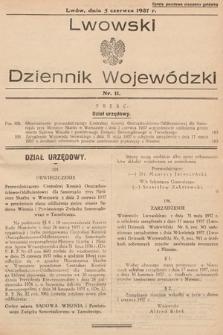 Lwowski Dziennik Wojewódzki. 1937, nr11