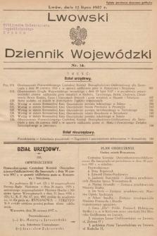 Lwowski Dziennik Wojewódzki. 1937, nr14