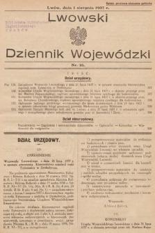 Lwowski Dziennik Wojewódzki. 1937, nr16