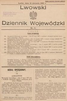 Lwowski Dziennik Wojewódzki. 1937, nr17