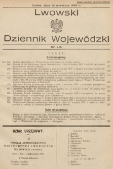 Lwowski Dziennik Wojewódzki. 1937, nr20