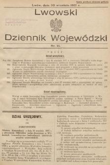 Lwowski Dziennik Wojewódzki. 1937, nr21