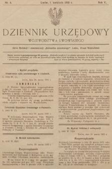 Dziennik Urzędowy Województwa Lwowskiego. 1925, nr4