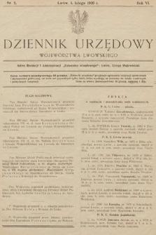 Dziennik Urzędowy Województwa Lwowskiego. 1926, nr2