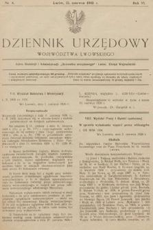 Dziennik Urzędowy Województwa Lwowskiego. 1926, nr6