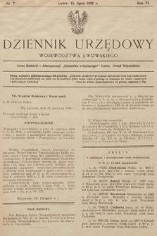 Dziennik Urzędowy Województwa Lwowskiego. 1926, nr7