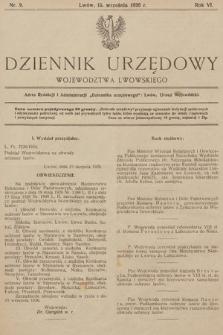 Dziennik Urzędowy Województwa Lwowskiego. 1926, nr9
