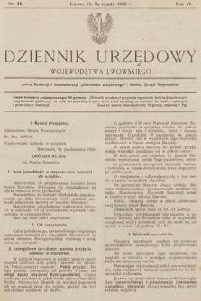 Dziennik Urzędowy Województwa Lwowskiego. 1926, nr11