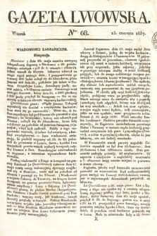 Gazeta Lwowska. 1837, nr68