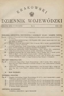 Krakowski Dziennik Wojewódzki. 1929, nr2