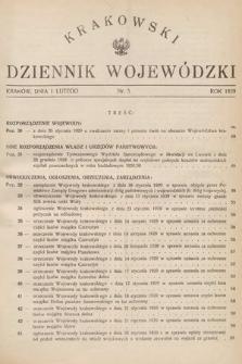 Krakowski Dziennik Wojewódzki. 1929, nr3