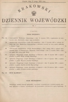 Krakowski Dziennik Wojewódzki. 1929, nr4