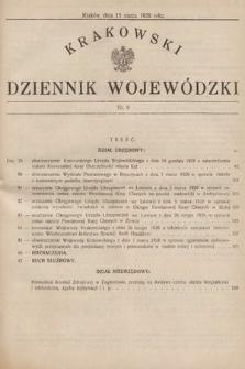 Krakowski Dziennik Wojewódzki. 1929, nr6