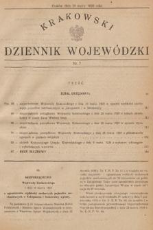 Krakowski Dziennik Wojewódzki. 1929, nr7