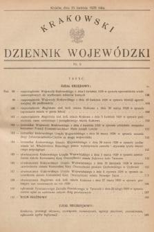 Krakowski Dziennik Wojewódzki. 1929, nr9