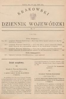 Krakowski Dziennik Wojewódzki. 1929, nr11