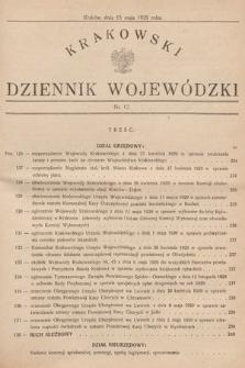 Krakowski Dziennik Wojewódzki. 1929, nr12