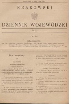 Krakowski Dziennik Wojewódzki. 1929, nr13