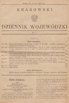 Krakowski Dziennik Wojewódzki. 1929, nr17