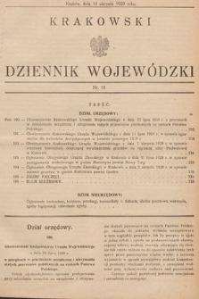 Krakowski Dziennik Wojewódzki. 1929, nr19
