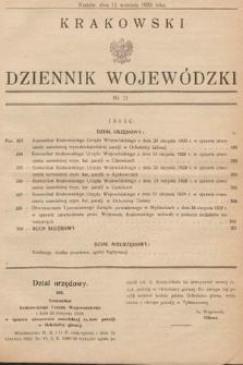 Krakowski Dziennik Wojewódzki. 1929, nr21