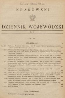 Krakowski Dziennik Wojewódzki. 1929, nr22