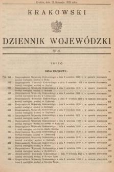 Krakowski Dziennik Wojewódzki. 1929, nr26