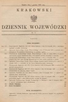 Krakowski Dziennik Wojewódzki. 1929, nr27