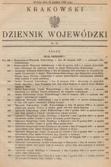 Krakowski Dziennik Wojewódzki. 1929, nr28