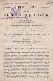 Die Medicinische Physik