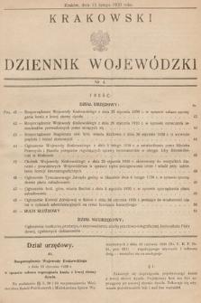 Krakowski Dziennik Wojewódzki. 1930, nr4