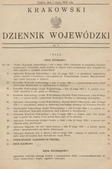 Krakowski Dziennik Wojewódzki. 1930, nr5