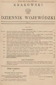 Krakowski Dziennik Wojewódzki. 1930, nr6