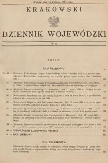 Krakowski Dziennik Wojewódzki. 1930, nr8