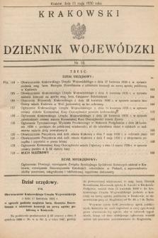 Krakowski Dziennik Wojewódzki. 1930, nr10