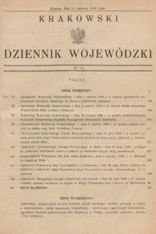 Krakowski Dziennik Wojewódzki. 1930, nr13