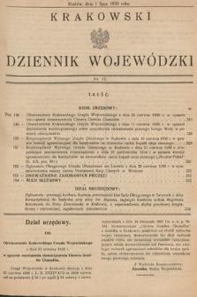 Krakowski Dziennik Wojewódzki. 1930, nr15