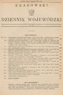 Krakowski Dziennik Wojewódzki. 1930, nr17