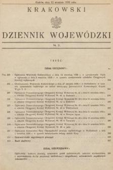 Krakowski Dziennik Wojewódzki. 1930, nr21