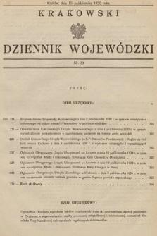 Krakowski Dziennik Wojewódzki. 1930, nr23