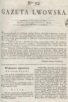 Gazeta Lwowska. 1813, nr50