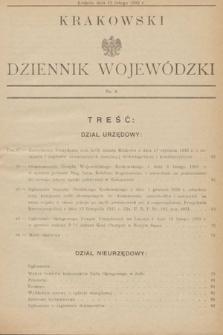 Krakowski Dziennik Wojewódzki. 1933, nr4