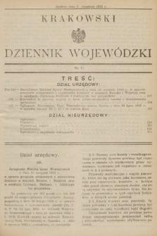 Krakowski Dziennik Wojewódzki. 1933, nr17