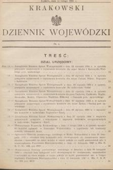 Krakowski Dziennik Wojewódzki. 1934, nr4
