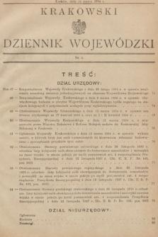 Krakowski Dziennik Wojewódzki. 1934, nr6