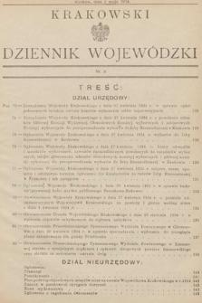 Krakowski Dziennik Wojewódzki. 1934, nr9